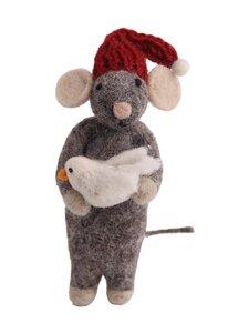 Én Gry & Sif - Hiiri ja lintu -joulukoriste - GREY | Stockmann