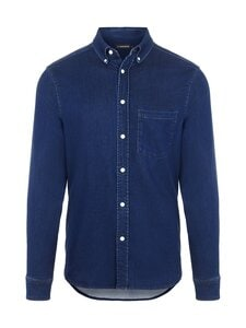 J.Lindeberg - Indigo Soft Stretch Slim Shirt -kauluspaita - 6194 MID BLUE | Stockmann