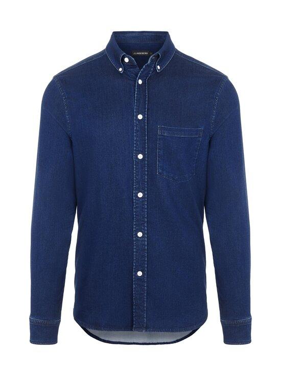 J.Lindeberg - Indigo Soft Stretch Slim Shirt -kauluspaita - 6194 MID BLUE | Stockmann - photo 1