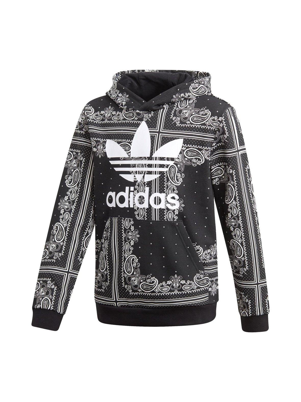 Black Adidas Originals Bandana Hoodie -huppari  8b260ce6b6
