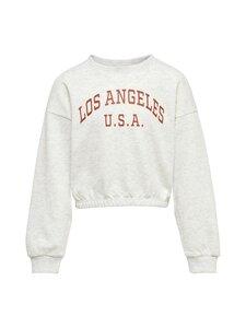 KIDS ONLY - KONVIRGINIA-collegepaita - LIGHT GREY MELANGE PRINT:LOS ANGELES | Stockmann