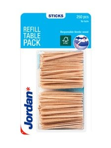 Jordan - Refill Table Pack -hammastikku 250 kpl | Stockmann