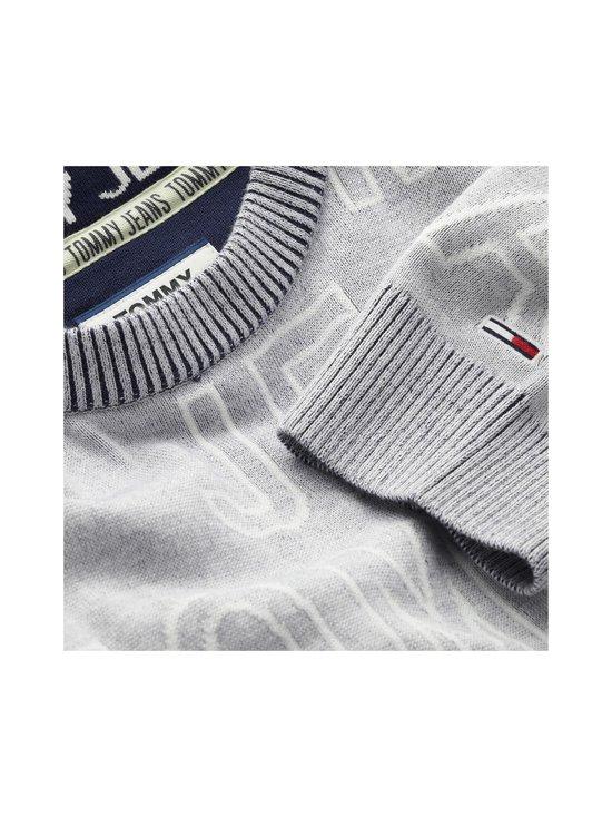 Tommy Jeans - Tjm Allover Logo -puuvillaneule - P01 LT GREY HTR | Stockmann - photo 3