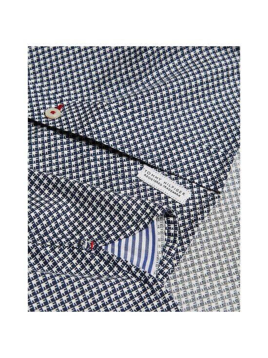 Tommy Hilfiger - Slim Flex Micro Geo Print Shirt -kauluspaita - 0GY CARBON NAVY / ECRU | Stockmann - photo 3