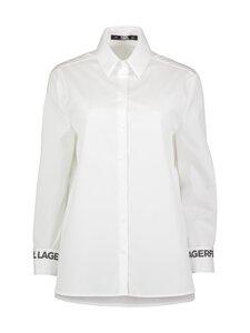 Karl Lagerfeld - Karl Collar Poplin -pusero - 100 WHITE   Stockmann