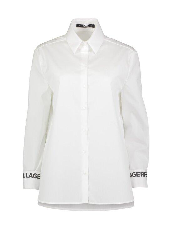 Karl Lagerfeld - Karl Collar Poplin -pusero - 100 WHITE | Stockmann - photo 1
