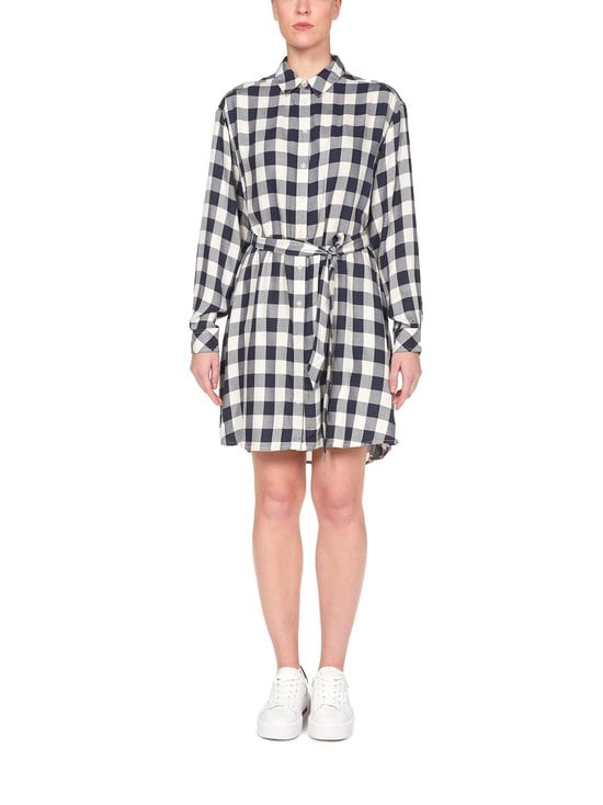 Tjw Belted Check Shirt Dress -mekko