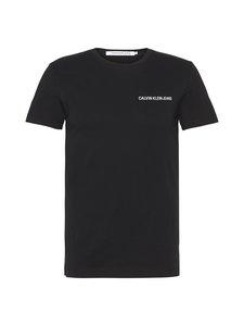 Calvin Klein Jeans - Chest Institutional Slim SS Tee -paita - 099 CK BLACK | Stockmann