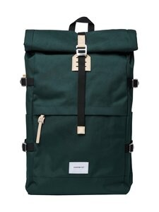 Sandqvist - Bernt-reppu - DARK GREEN WITH NATURAL LEATHER | Stockmann