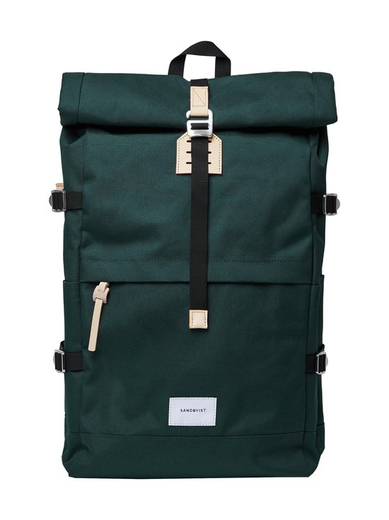 Sandqvist - Bernt-reppu - DARK GREEN WITH NATURAL LEATHER | Stockmann - photo 1