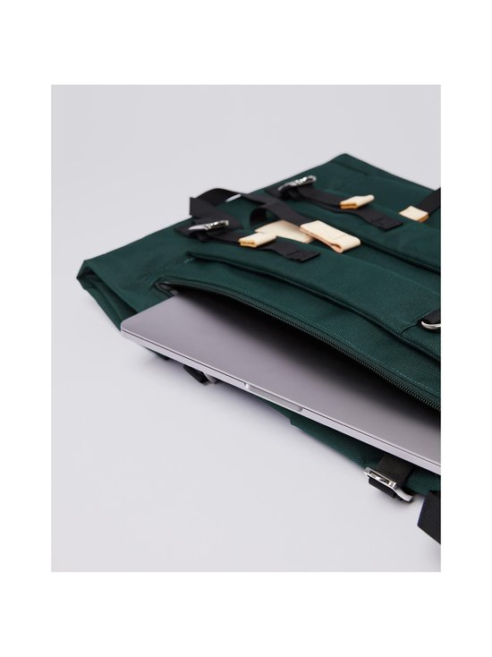 Sandqvist - Bernt-reppu - DARK GREEN WITH NATURAL LEATHER | Stockmann - photo 6
