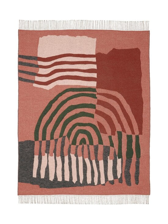 Marimekko - VUOSIRENKAAT -villasekoitehuopa 130 x 170 cm - 860 BEIGE, GREEN, PINK | Stockmann - photo 1