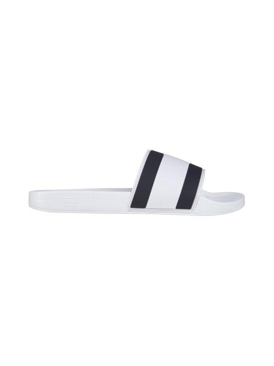 Tommy Hilfiger - Essential Flag Pool Slide -sandaalit - YBR WHITE   Stockmann - photo 1