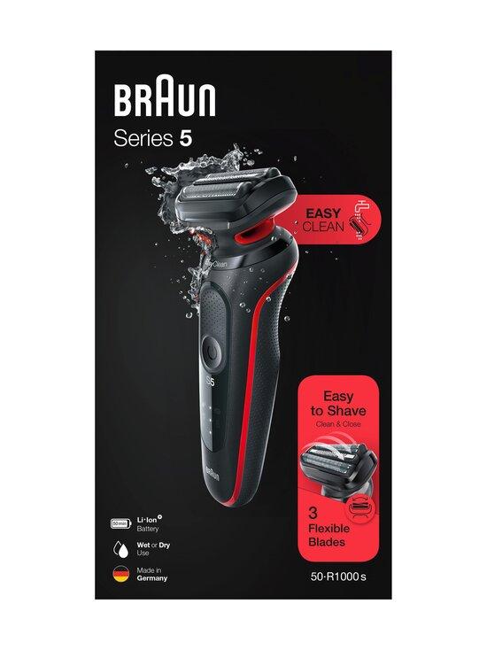 Braun - Series 5 50-R1000s -parranajokone - BLACK / RED | Stockmann - photo 2