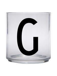 Design Letters - Kids Personal Drinking Glass -juomalasi, G - KIRKAS | Stockmann
