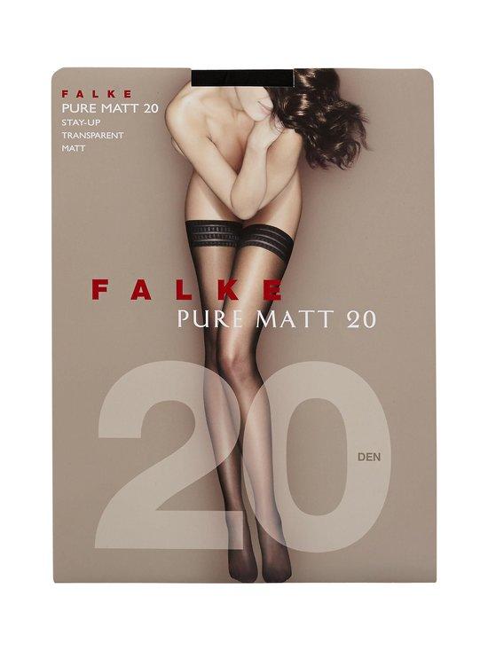 Falke - Pure Matt -stay-up-sukat 20 den - MUSTA | Stockmann - photo 1