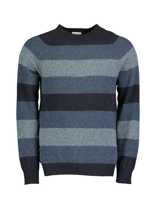 Sunspel - Neule - DARK NAVY/DARK PETROL/DOVE GREY BLOCK STRIPE | Stockmann - photo 1