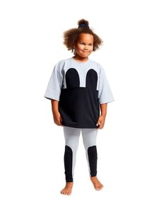 R/H - Mickey Square Dress -mekko - LIGHT GREY / BLACK | Stockmann