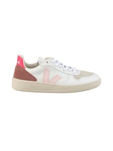 VEJA - V-10 Leather -nahkatennarit - EXTRA-WHITE_PETALE_ROSE-FLUO | Stockmann