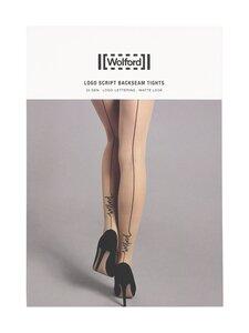 Wolford - Logo Script Backseam 20 den -sukkahousut - 9180 BLACK/BLACK | Stockmann
