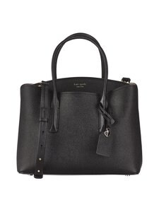 kate spade new york - Margaux Large Satchel -nahkalaukku - BLACK | Stockmann