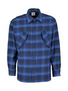 MARCELO BURLON - Countyscript Shirt -flanellipaita - BLUE | Stockmann