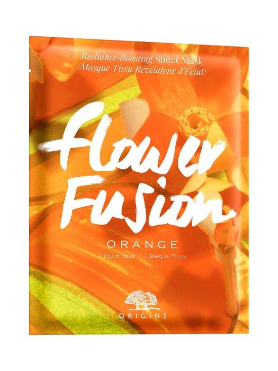 Origins - Flower Fusion™ Hydrating Sheet Mask Orange -kasvonaamio | Stockmann - photo 1