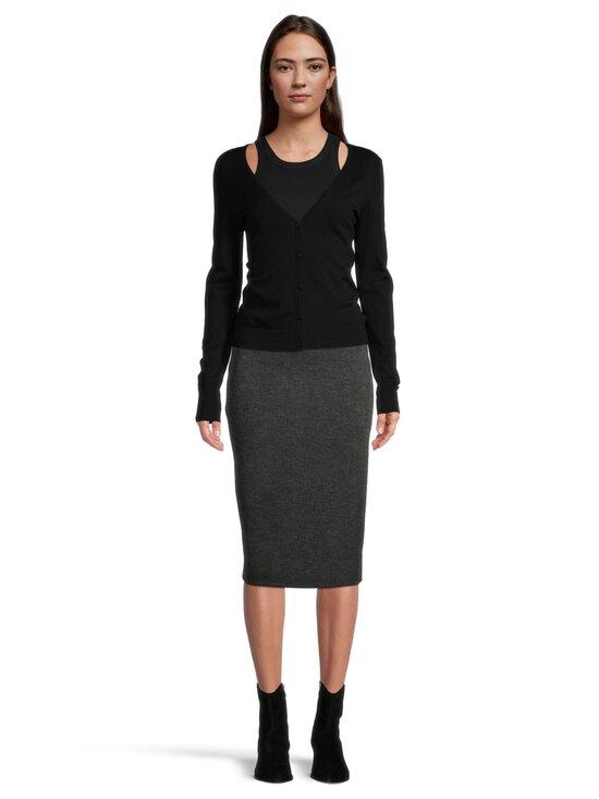 Vila - ViMany Pencil Skirt -hame - DARK GREY MELANGE | Stockmann - photo 4