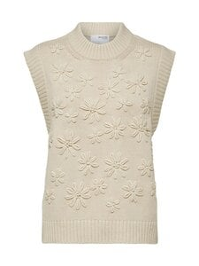 Selected - SlfFia Knit Vest -neule - SANDSHELL | Stockmann
