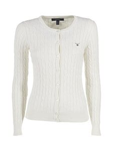 GANT - Stretch Cotton -neule - VALKOINEN | Stockmann