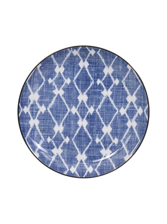 Shibori-lautanen 21,5 cm