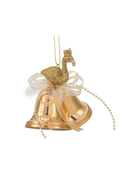 Weiste - Mini Bells with Flamingo -joulukoriste 50 mm - GOLD | Stockmann - photo 1