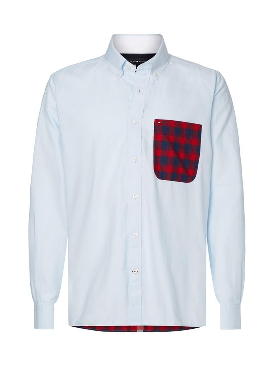 Tommy Hilfiger - Relaxed Contrast Back Shirt -kauluspaita - 0QJ PRIMARY RED / MULTI | Stockmann - photo 1