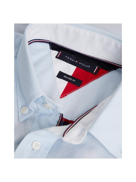 Tommy Hilfiger - Relaxed Contrast Back Shirt -kauluspaita - 0QJ PRIMARY RED / MULTI | Stockmann - photo 4