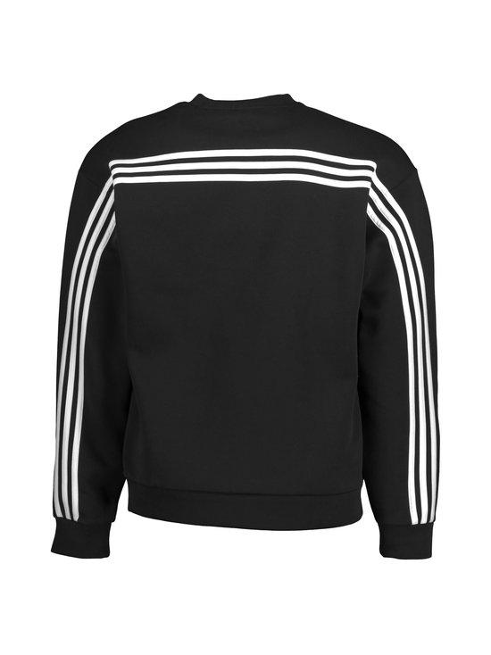 adidas Performance - MH 3-Stripes Crew -collegepaita - BLACK/WHITE | Stockmann - photo 2