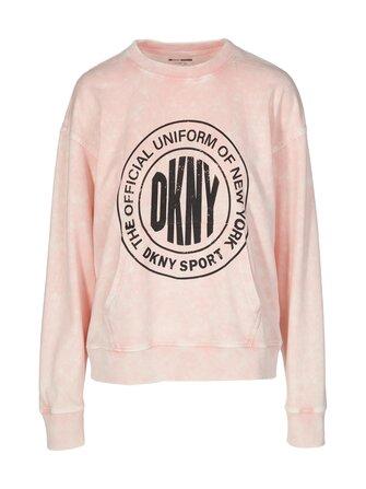 Acid Washed Pleated sweatshirt - DKNY Sport