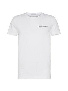 Calvin Klein Jeans - Chest Institutional Slim SS Tee -paita - 112 BRIGHT WHITE | Stockmann