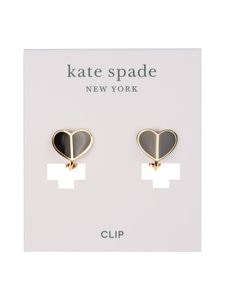 kate spade new york - Small Heart Clips -korvakorut - BLACK | Stockmann