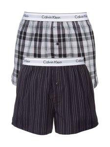 Calvin Klein Underwear - Modern Cotton Stretch -bokserit 2-pack - RYAN STRIPE/HICKORY PLAID (SININEN/HARMAA)   Stockmann