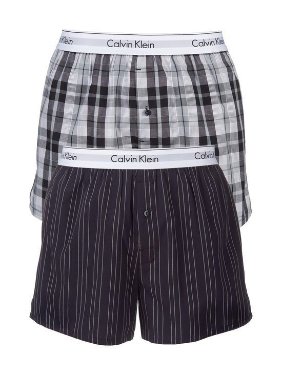 Calvin Klein Underwear - Modern Cotton Stretch -bokserit 2-pack - RYAN STRIPE/HICKORY PLAID (SININEN/HARMAA) | Stockmann - photo 1