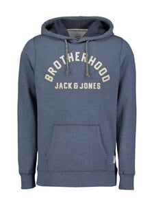 Jack & Jones - Jj30Structure Application Sweat Hood -huppari - NAVY BLAZER FIT:REG / MELANGE | Stockmann