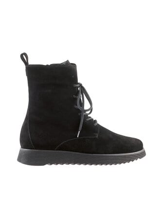 Suede ankle boots - högl