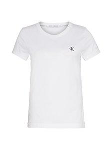 Calvin Klein Jeans - Embroidery Slim Tee -paita - YAF BRIGHT WHITE | Stockmann