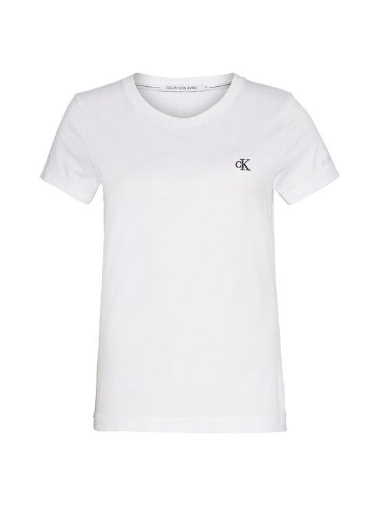 Calvin Klein Jeans - Embroidery Slim Tee -paita - YAF BRIGHT WHITE | Stockmann - photo 1