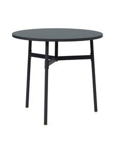 Normann Copenhagen - Union-pöytä, pyöreä ø 80 cm - BLACK   Stockmann