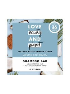 Love Beauty and Planet - Coconut Water and Mimosa Flower Shampoo Bar -shampoopala 90 g | Stockmann