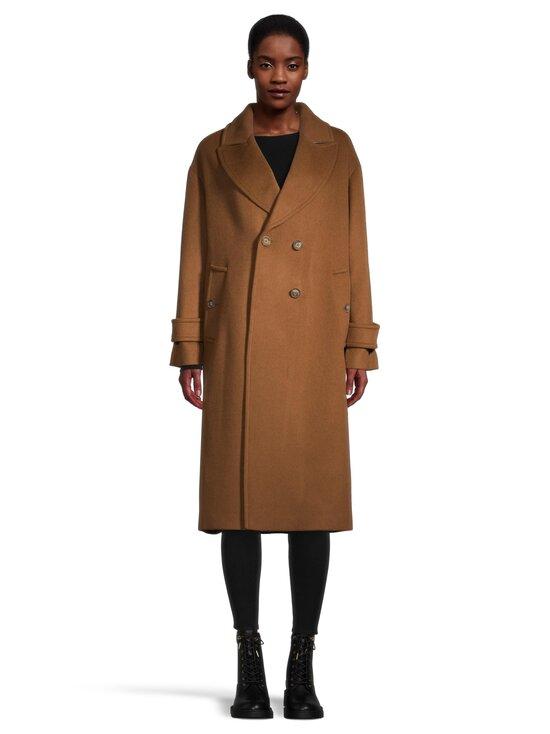 GANT - Wool Blend Cocoon Overcoat -villasekoitetakki - 210 ROASTED WALNUT | Stockmann - photo 2