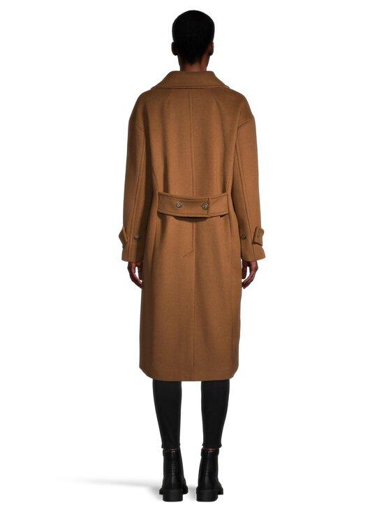 GANT - Wool Blend Cocoon Overcoat -villasekoitetakki - 210 ROASTED WALNUT | Stockmann - photo 3