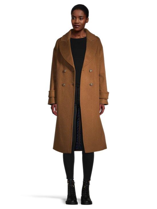 GANT - Wool Blend Cocoon Overcoat -villasekoitetakki - 210 ROASTED WALNUT | Stockmann - photo 4