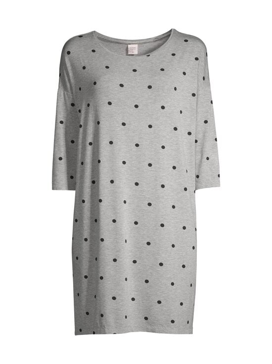 NOOM loungewear - Valentine-yöpaita - GREY MEL/BLACK | Stockmann - photo 1